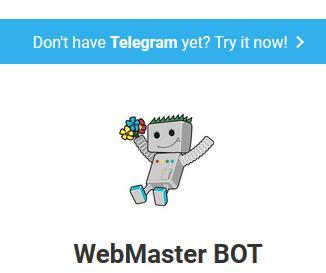 webmaster bot on Telegram