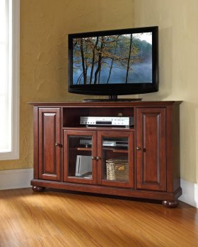 Corner TV Stands Crosley Furniture Alexandria Full View
