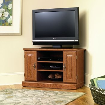 Corner TV Stands Sauder Orchard Hills Full View