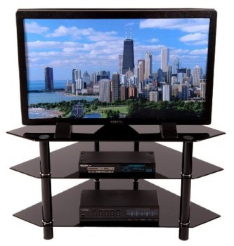 Corner TV Stands Walker Edison Bermuda 44-Inch Full View