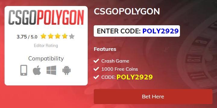 cs go polygon bonus code