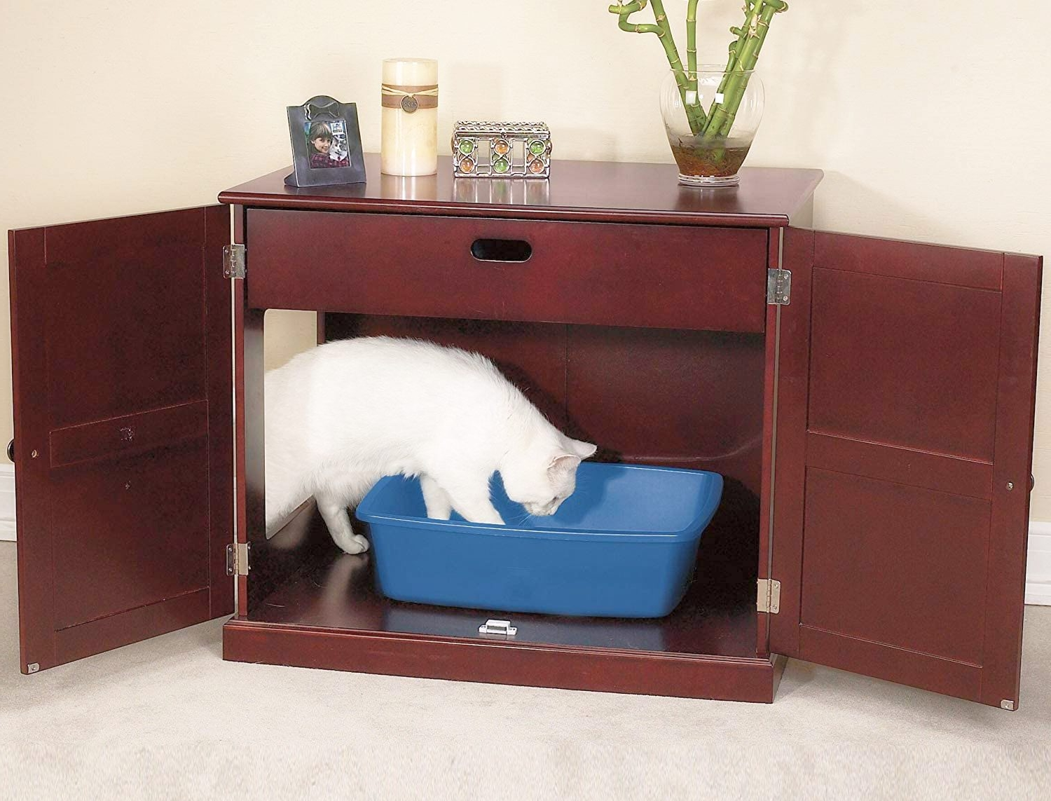 litter box for cat closed top