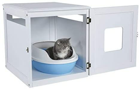 cat litter closed