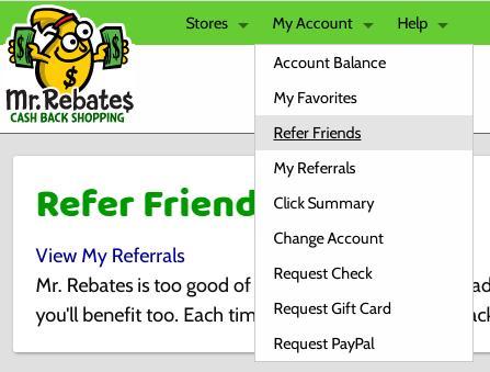 Dove generare il link di riferimento per Mrrebates.com